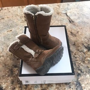 Tall Winter Boots Buckles and Faux Fur